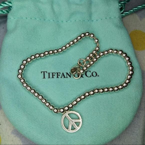 e4c0d87e6eb81 Tiffany & Co. Peace Sign Beaded Bracelet